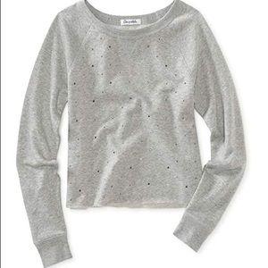 Aeropostale studded cropped sweatshirt